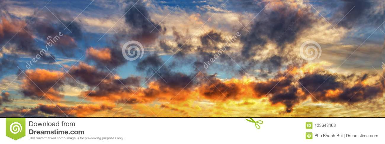 Background With Magic Of The Clouds And The Sky At The Dawn, Sunrise