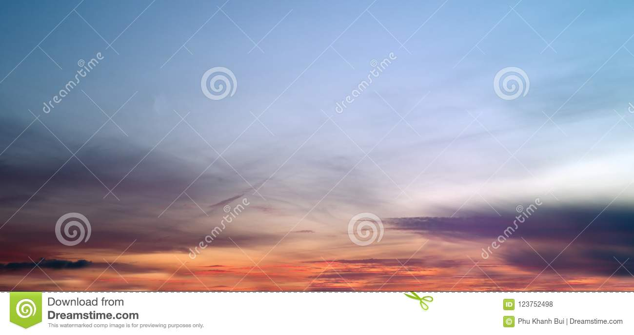 Background With Magic Of The Clouds And The Sky At Dawn, Sunrise