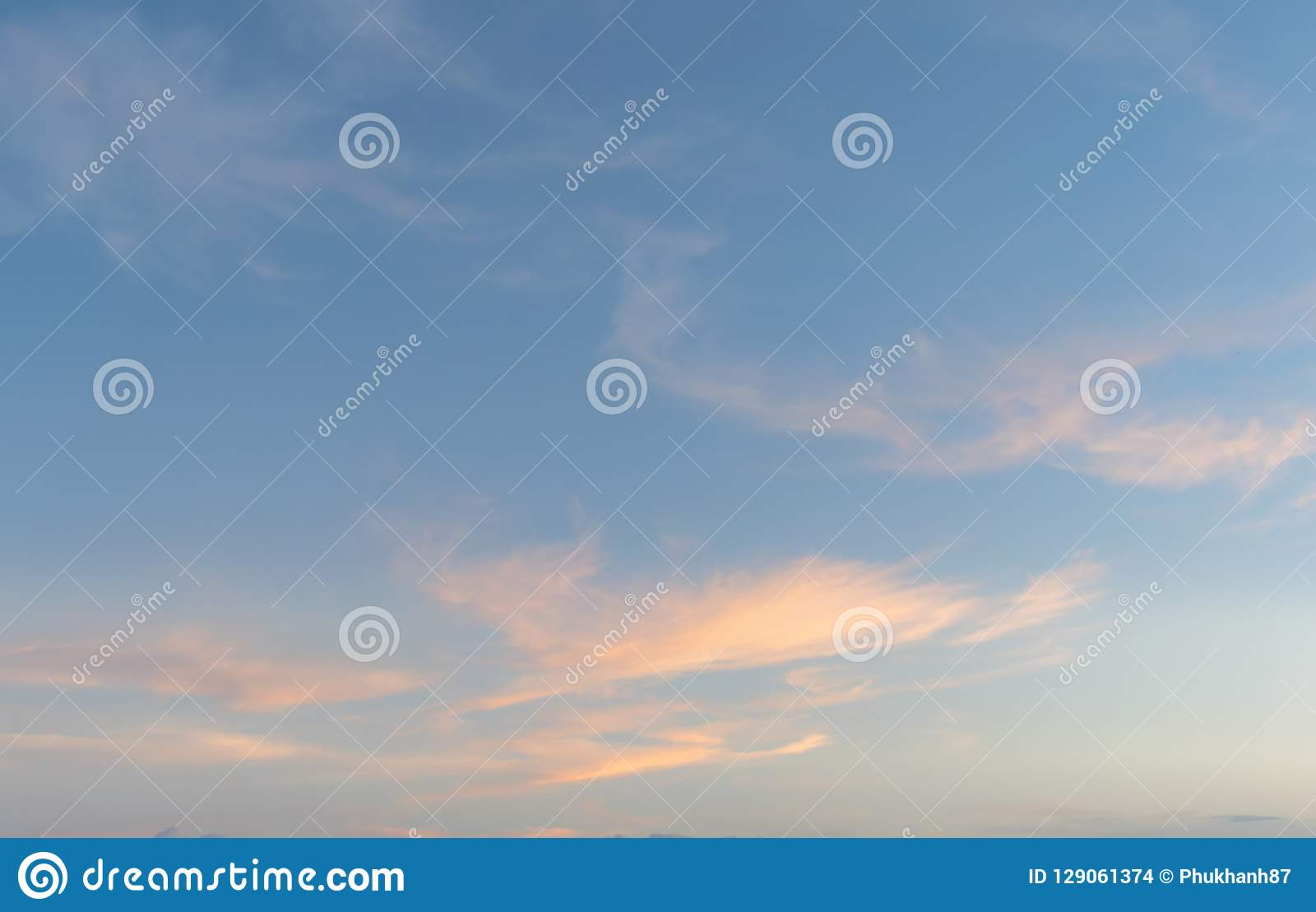 Background with magic of the sky and clouds at dawn and twilight part 15