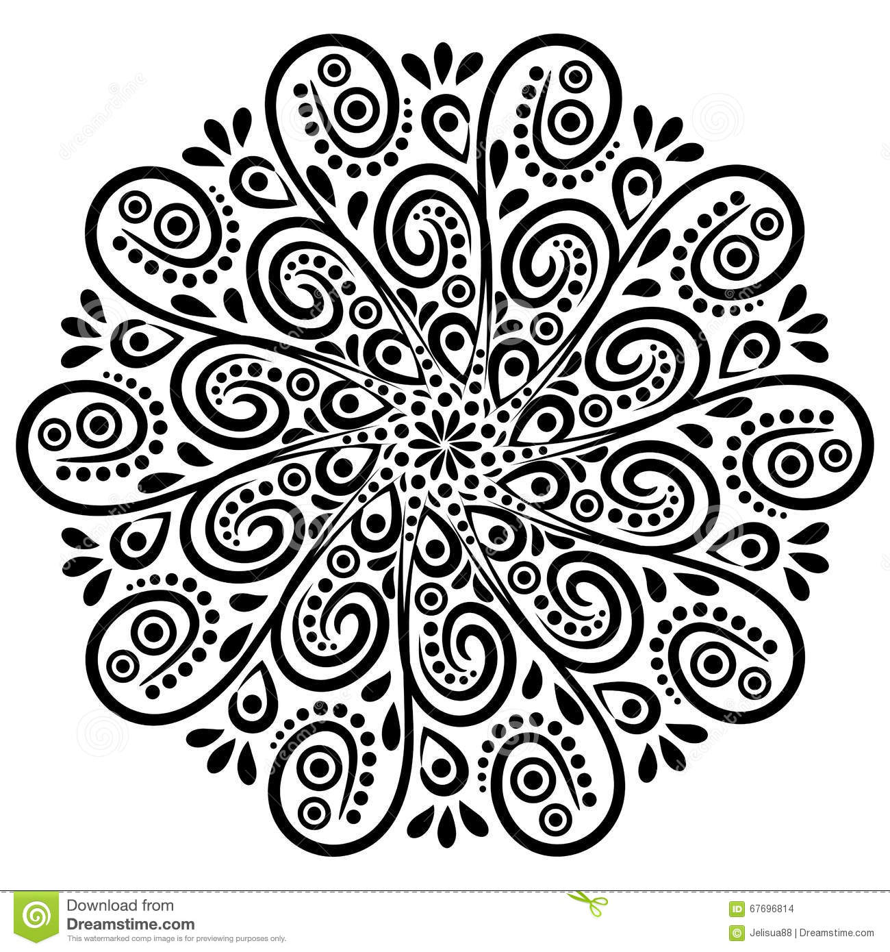 Mystical mandala coloring pages - Indian Mandala Coloring Pages 2