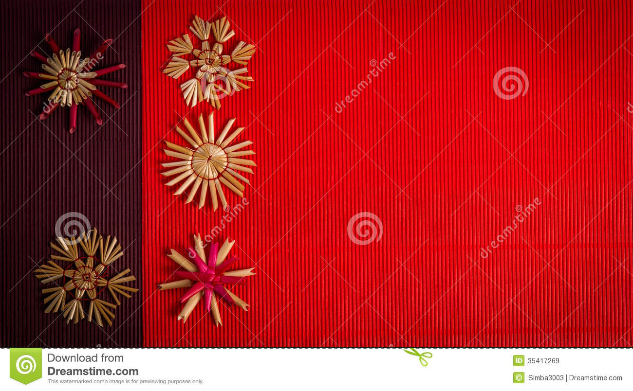 Holiday Background Or Greeting Card: Background For Merry Christmas Greeting Card With Straw