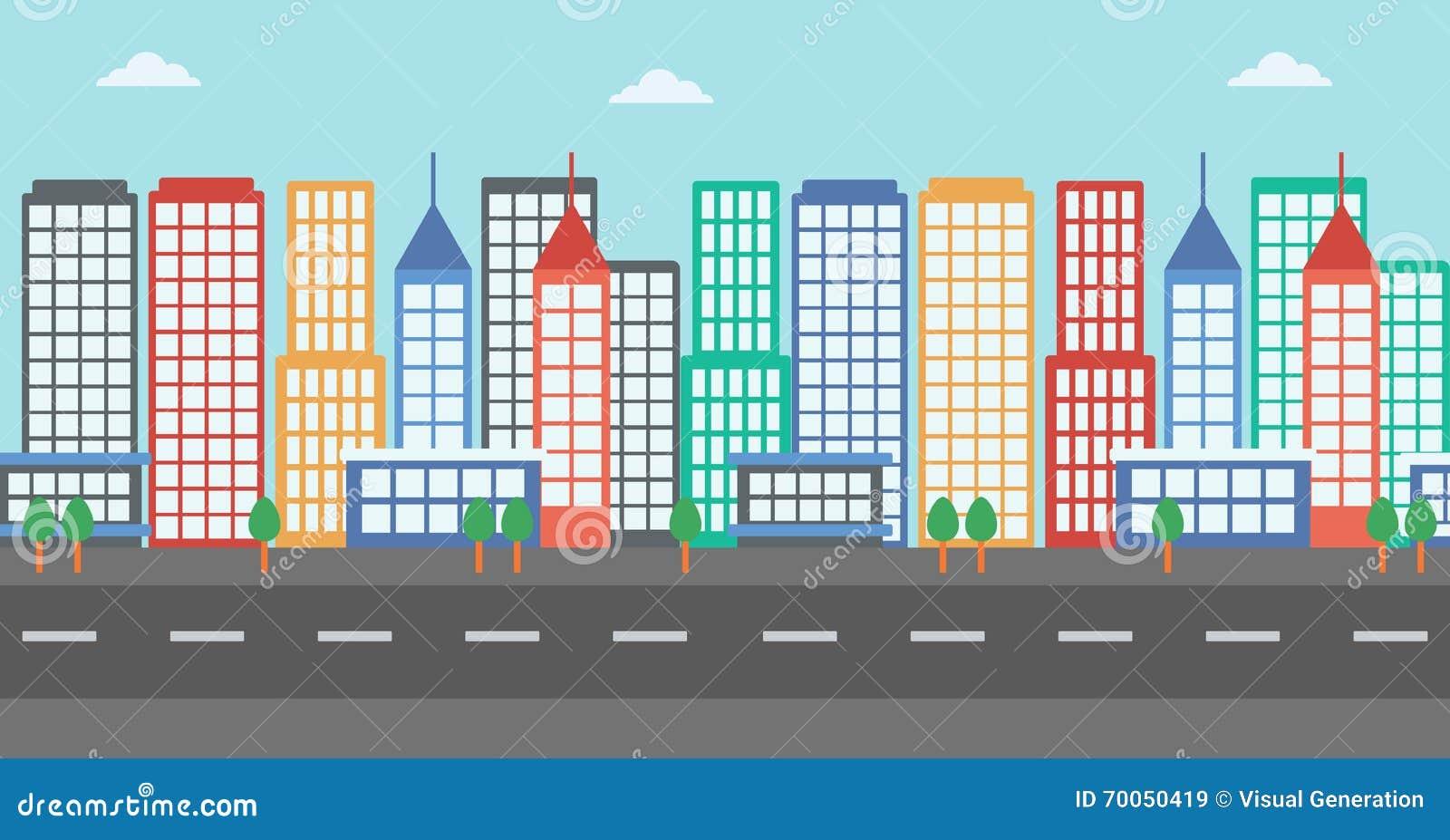background of modern city