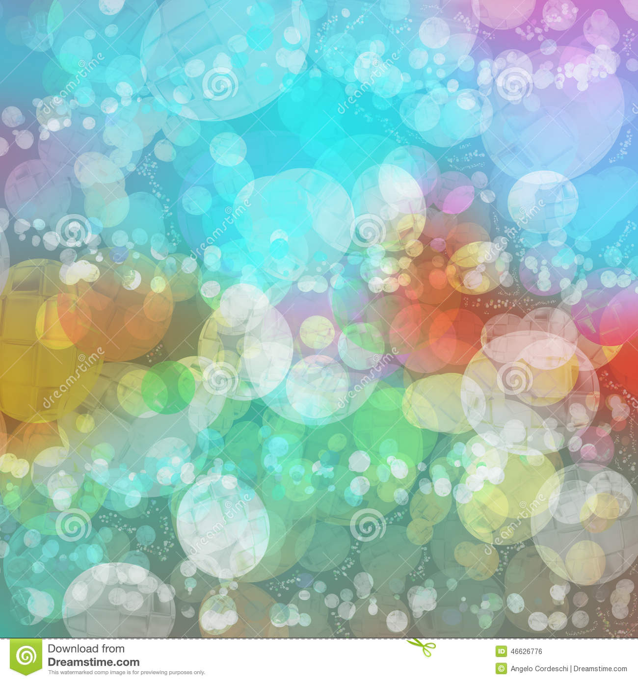 Background Multicolored Vivid Bubbles Shadows Stock