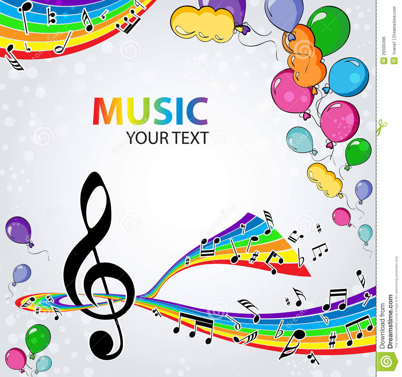 Background Music With Balloons Stock Vector Image 26500496