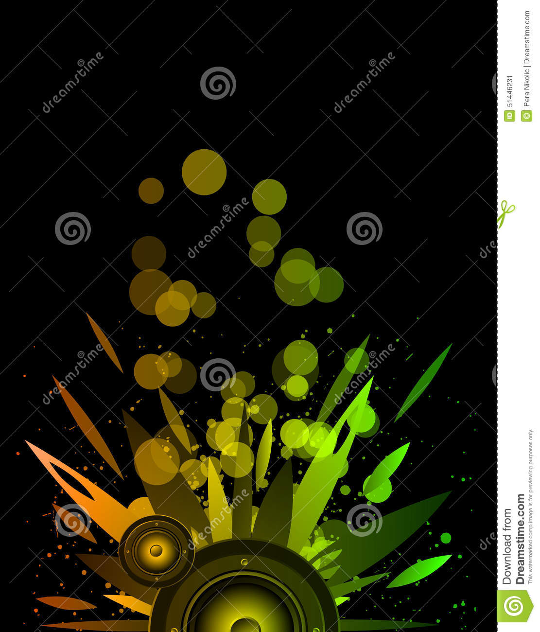 Background For Music Event Flyer Stock Vector Illustration Of