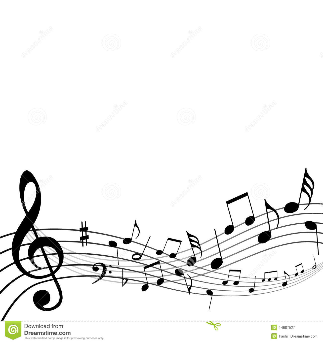 Background music notes stock vector illustration of artistic 14687527 background music notes voltagebd Image collections