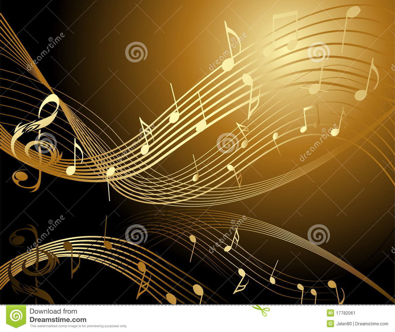 Background With Music Notes Stock Vector - Illustration of line