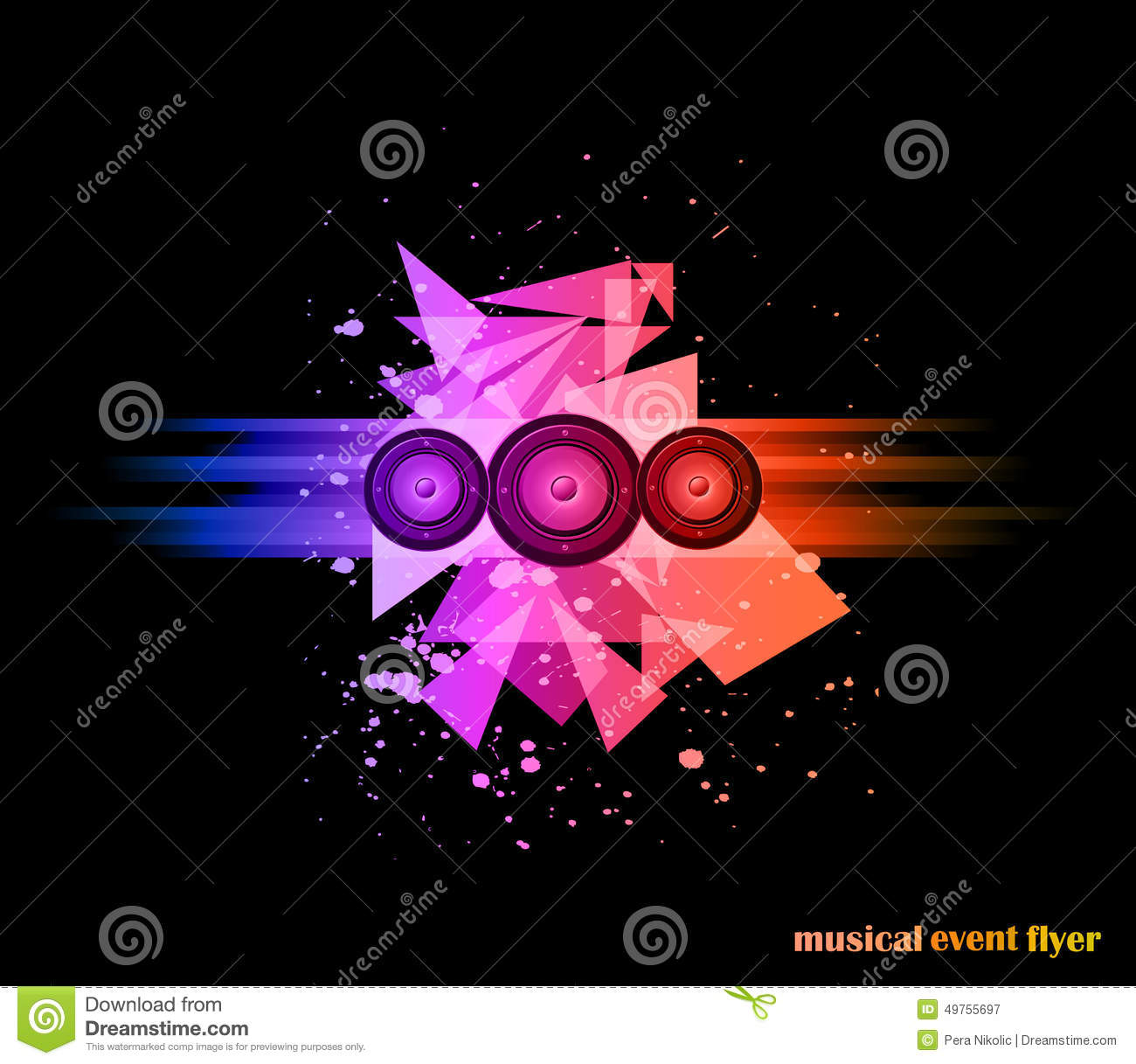 Background For Musical Event Flyer Stock Vector Illustration Of