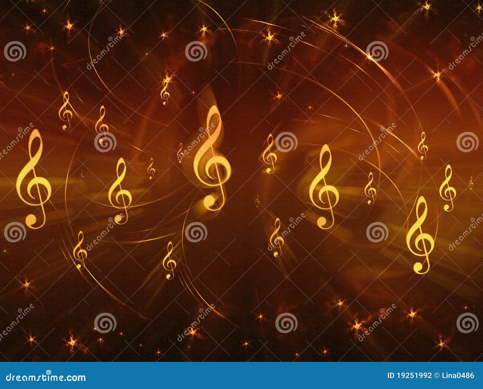 background of musical symbols stock photography image