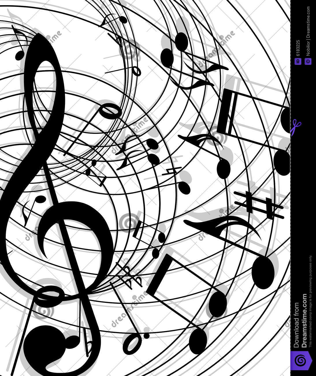 Background Musical Theme Royalty Free Stock Photo