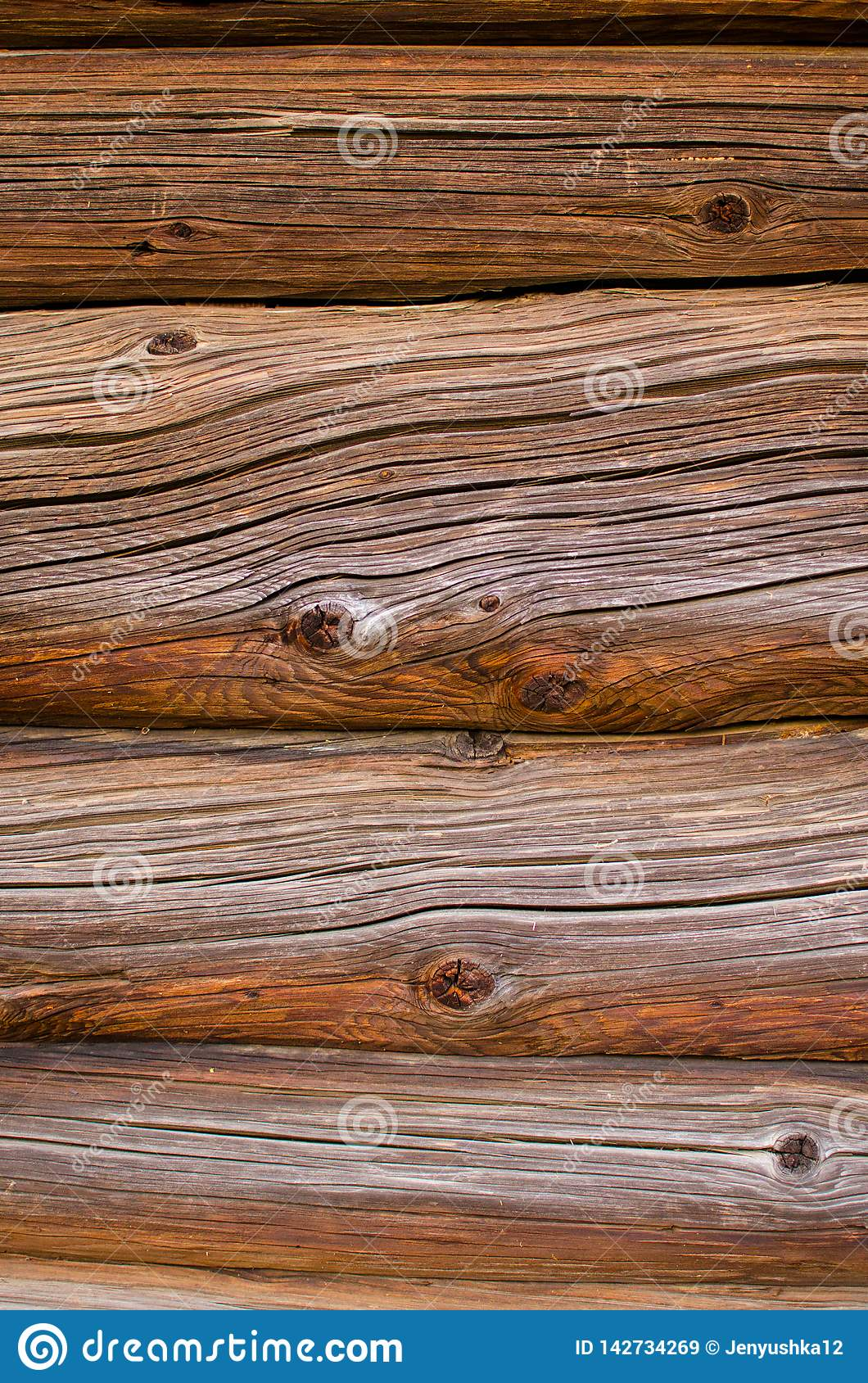 Background from an old brown logs