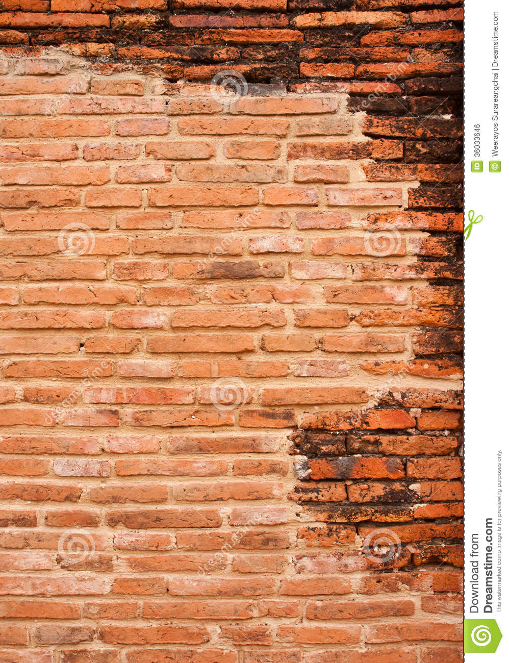 Brick Wall Background Design : Background of old red brick wall pattern texture royalty