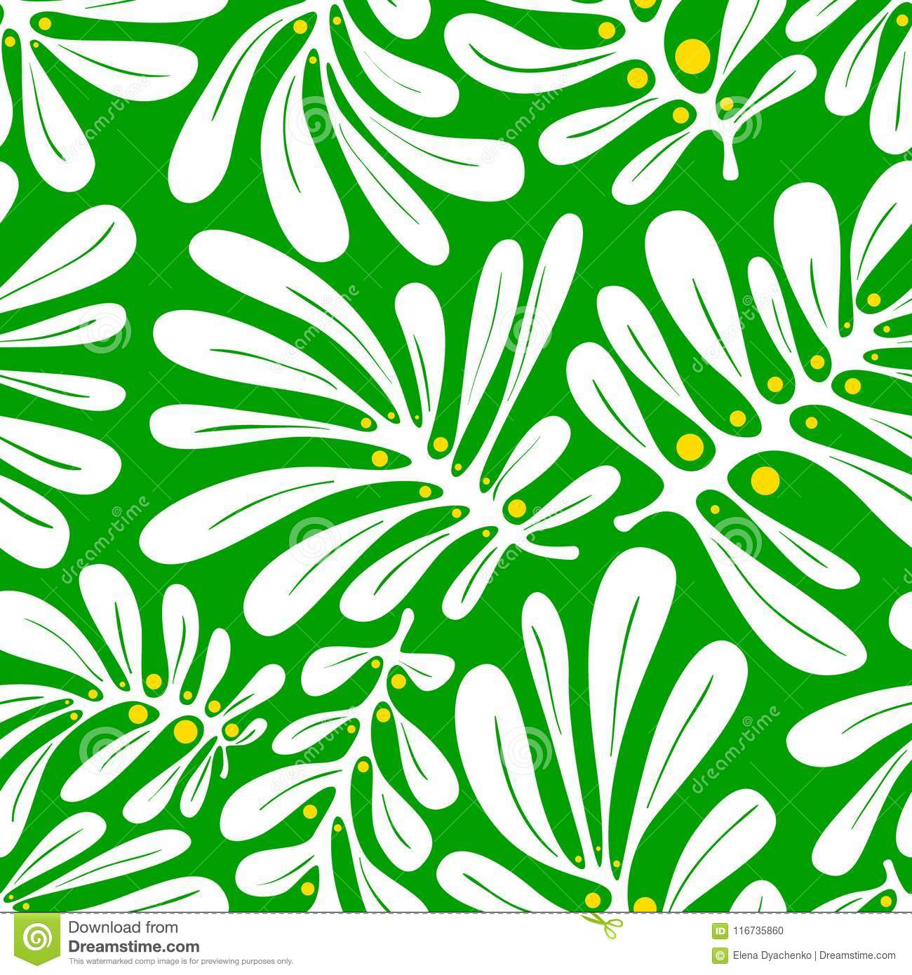 Background with palm leaves. Tropical seamless pattern with mons