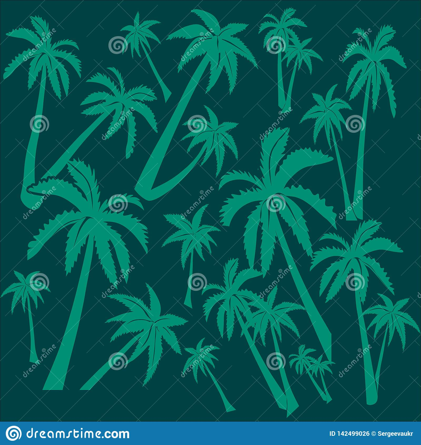 Background of palm trees