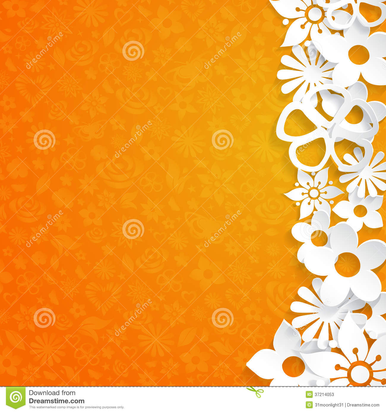 Background With Paper Flowers Stock Photos