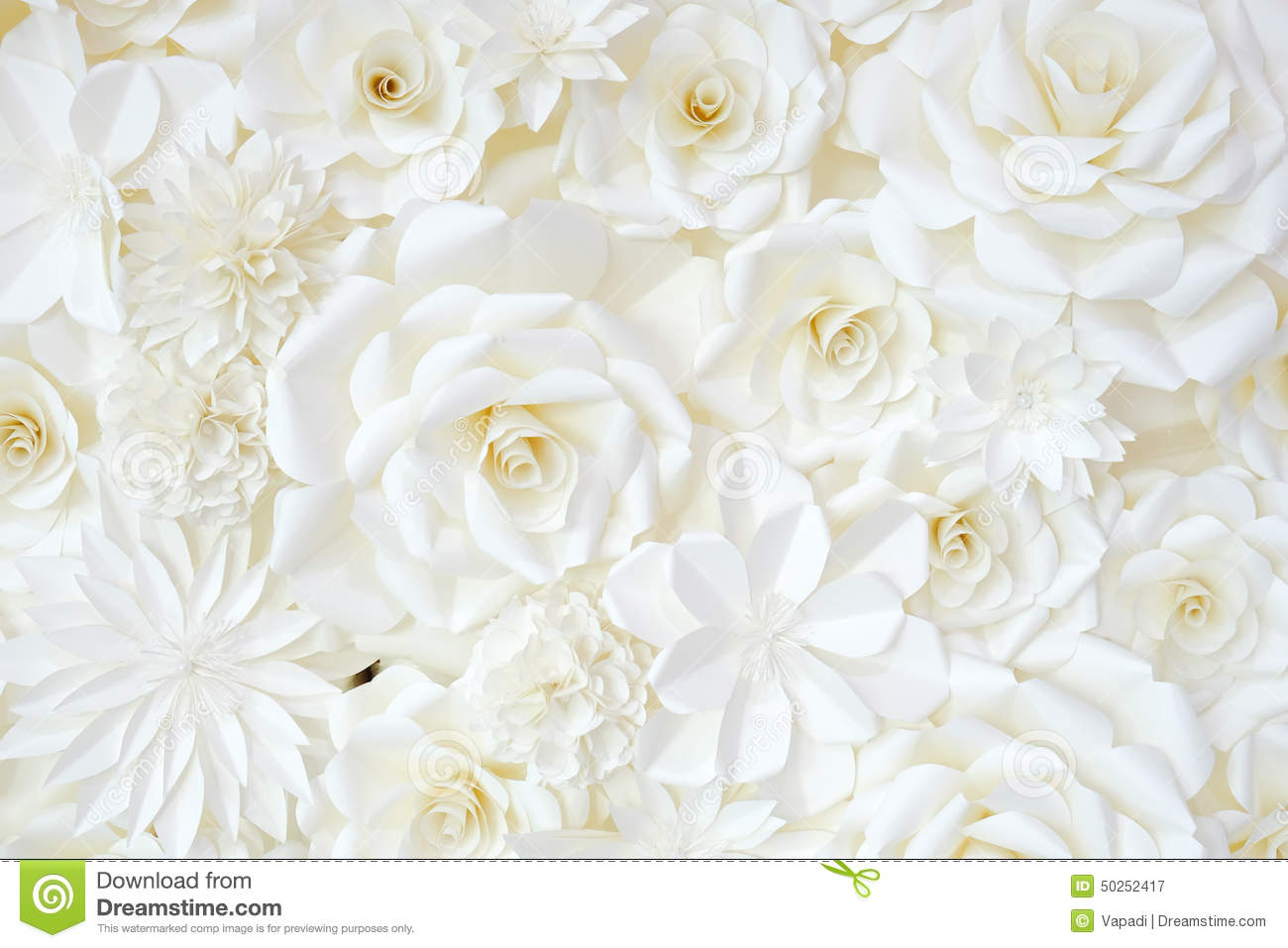 Background Of Paper-folding Flower Stock Photo - Image: 50252417