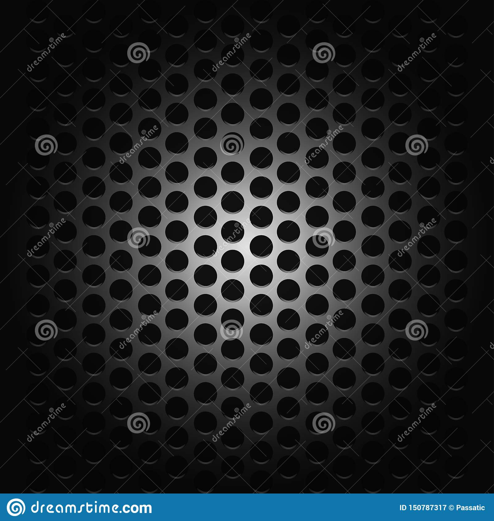 Background with passion for music black grid