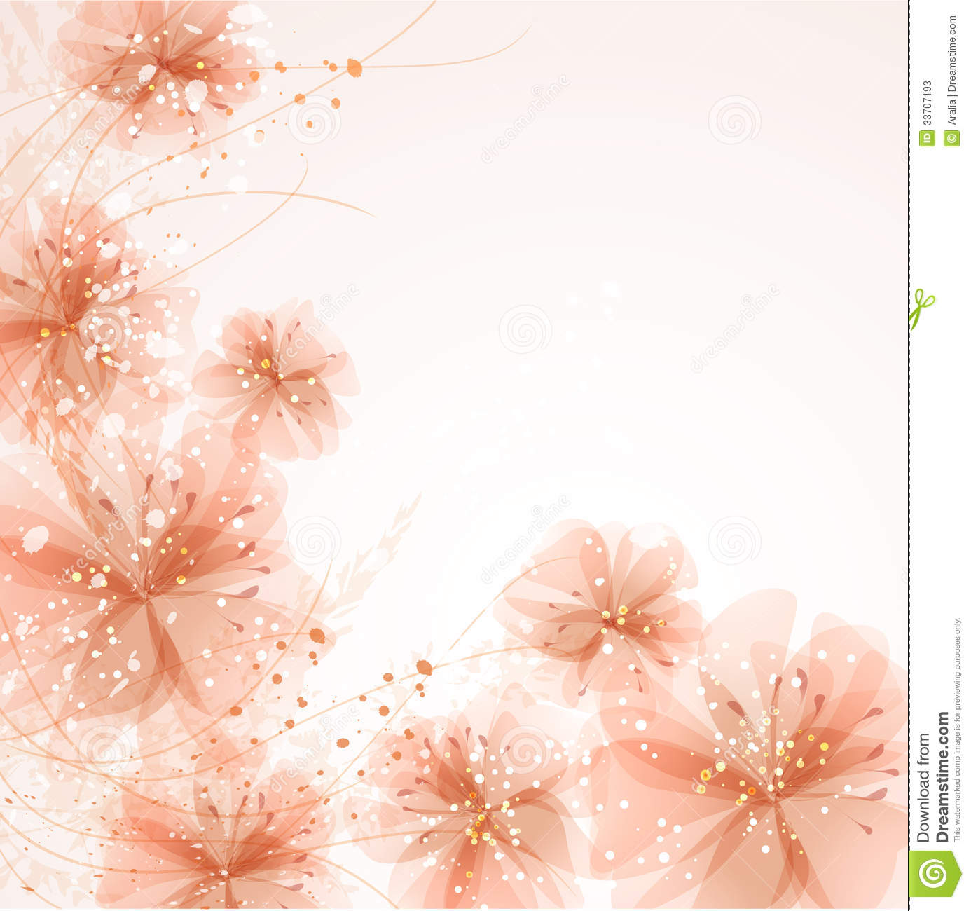 Background With Pastel Flowers Stock s Image