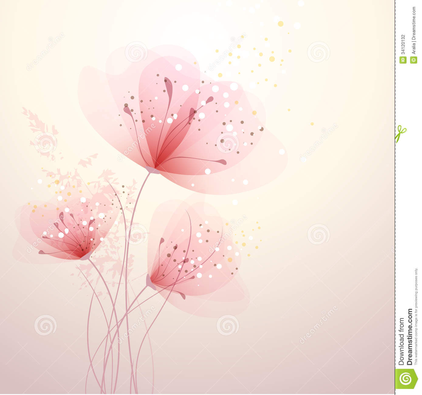 Background With Pastel Flowers Stock Photography - Image: 34120132