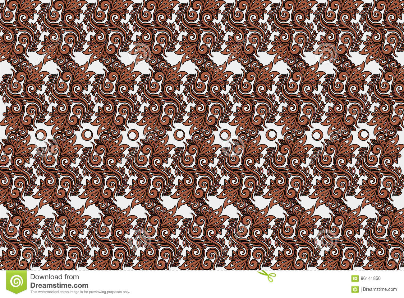 Download Background Pattern Design Ornament Parang Barong Javanese Batik Indonesian Stock Vector - Illustration of brown, nature: 86141850