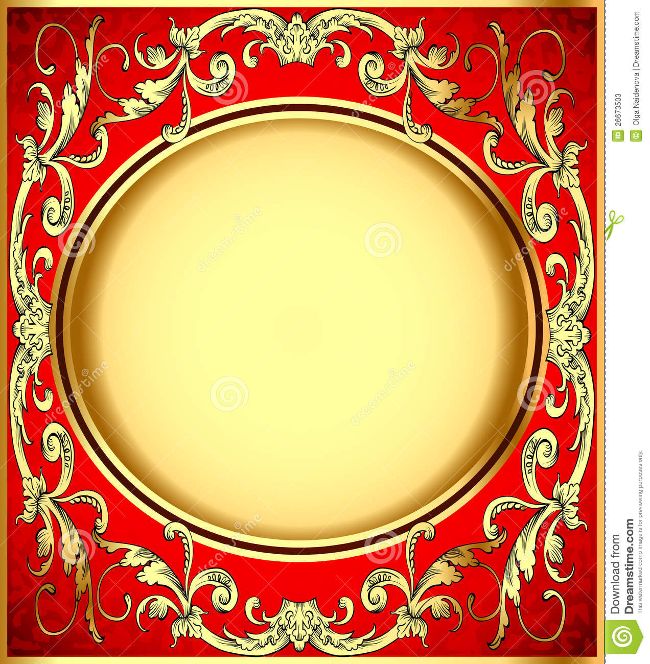 Background Pattern Gold On Red Background Stock Vector ...