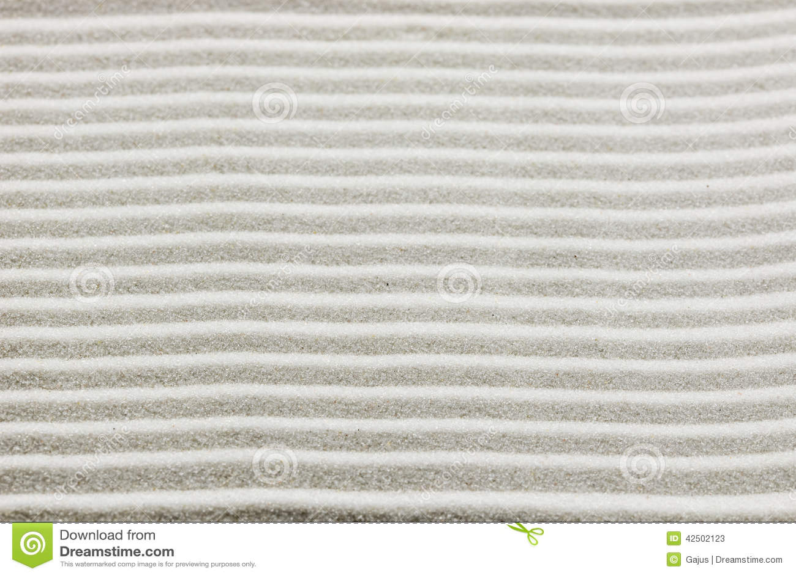 Background Pattern Of Raked White Sand Stock Image - Image