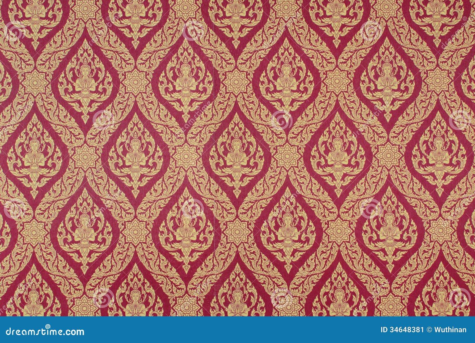 Background Pattern Thailand Stock Image Image 34648381