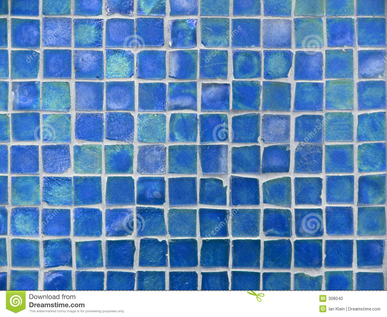 Background Pattern Of Turquoise And Blue Glass Tiles Stock