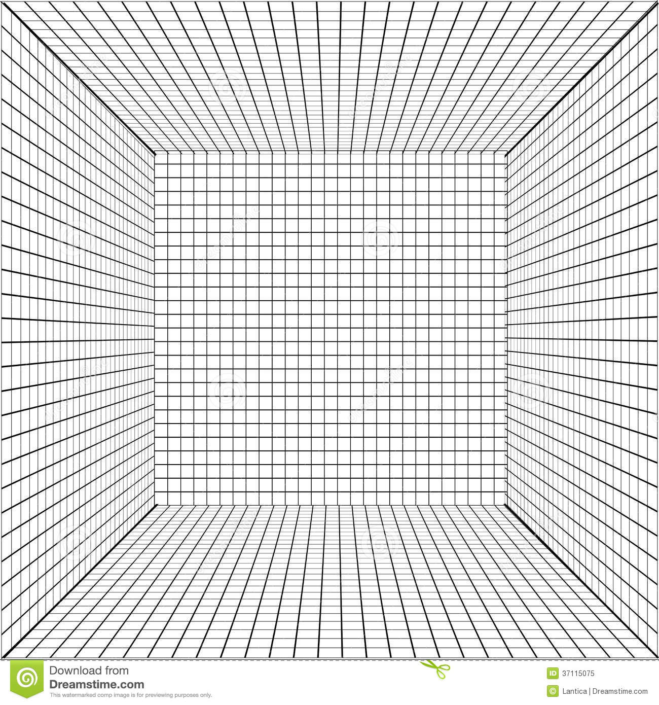 Background with a perspective grid stock vector for Grid room