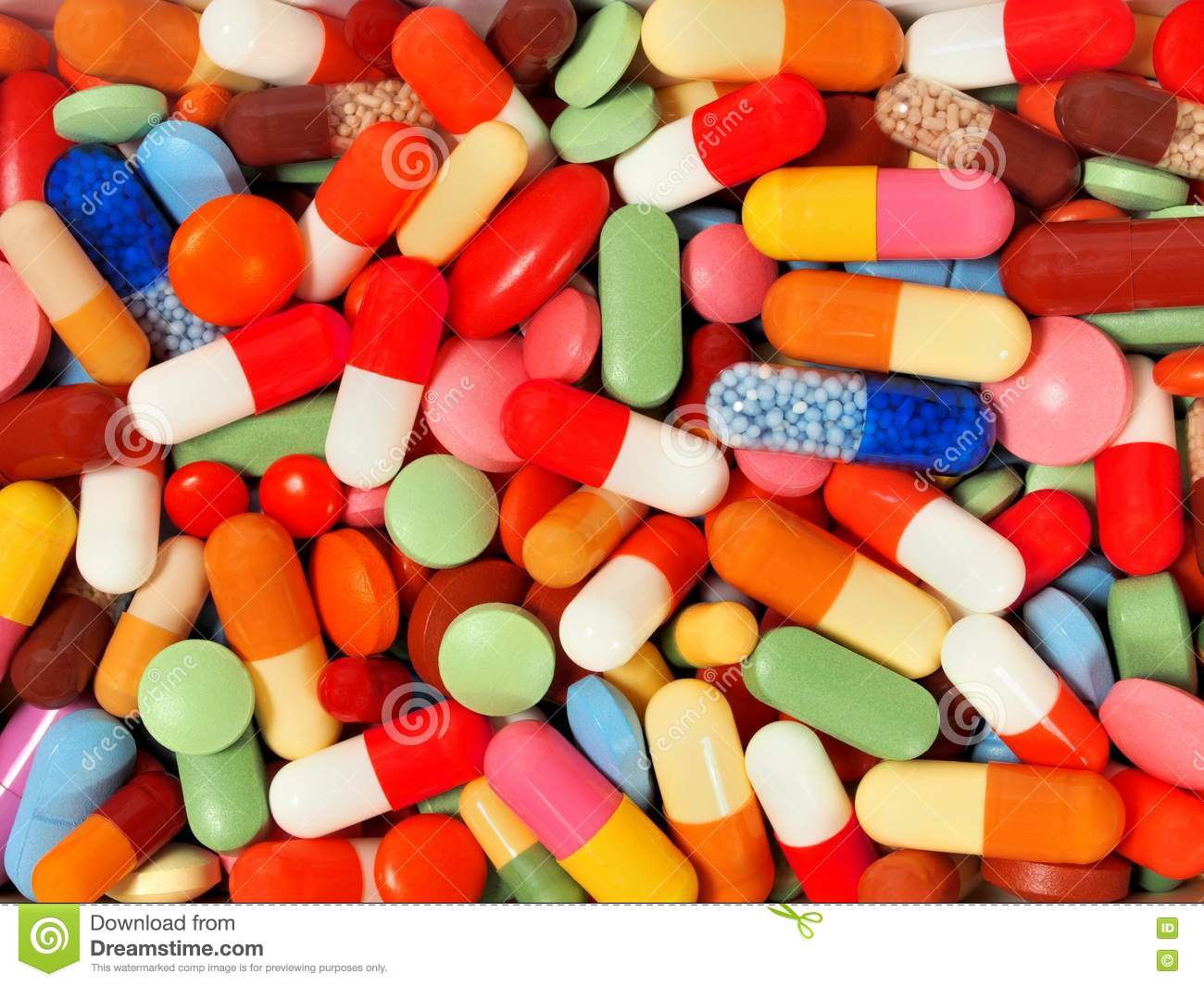 Background from pills and capsules