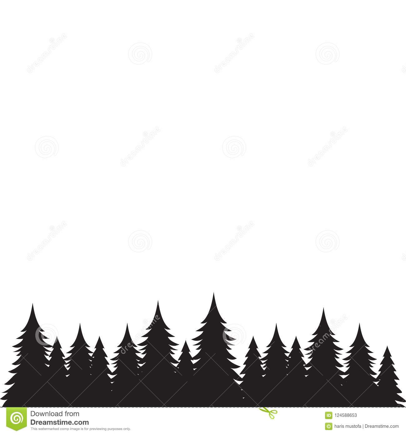 Background Of Pine Trees Graphic Design Stock Vector Illustration