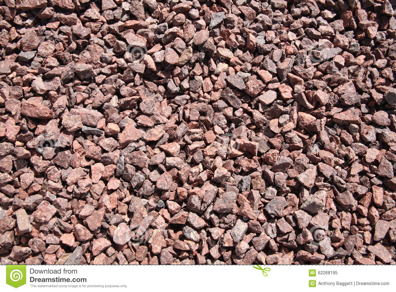Pink Crushed Stone : Background of pink crushed stones stock photo image