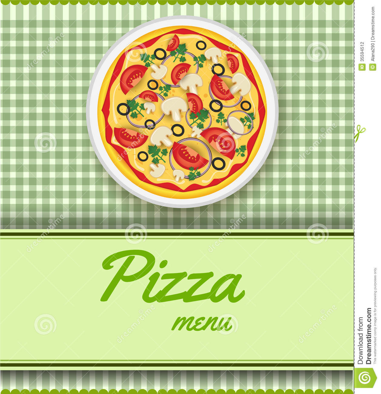 Background With Pizza Stock Photography Image 35594512