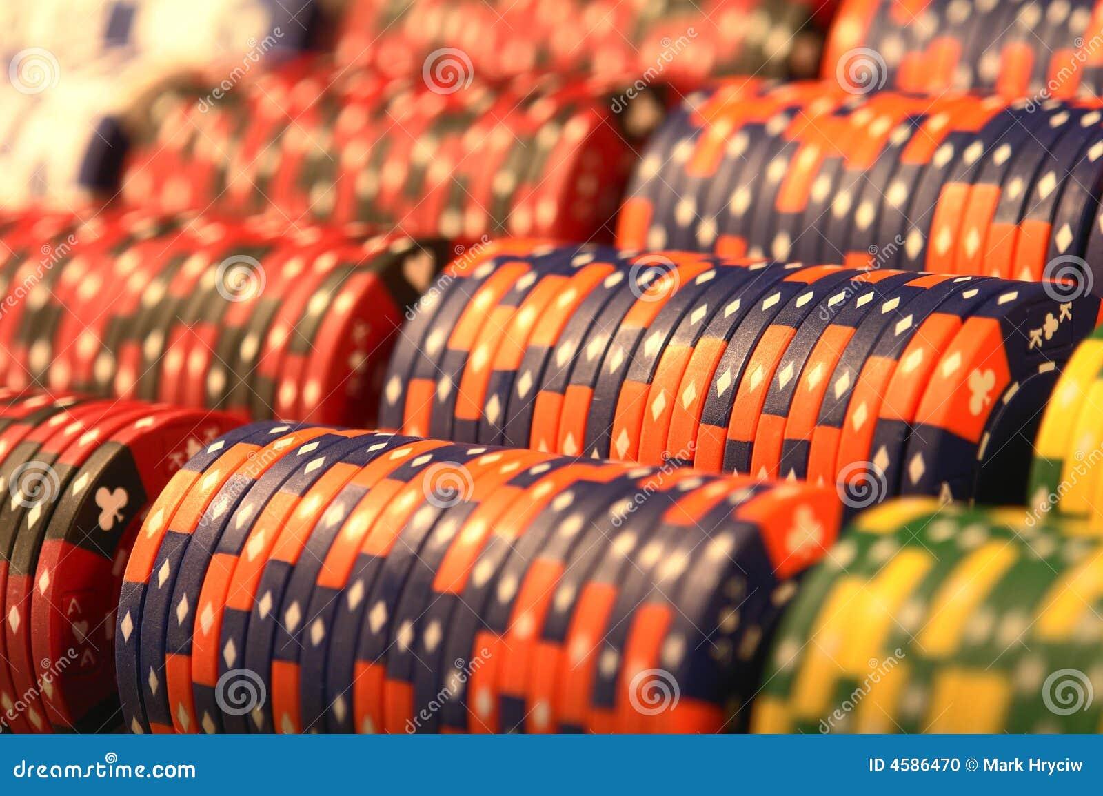 Used poker casino chips international water gambling