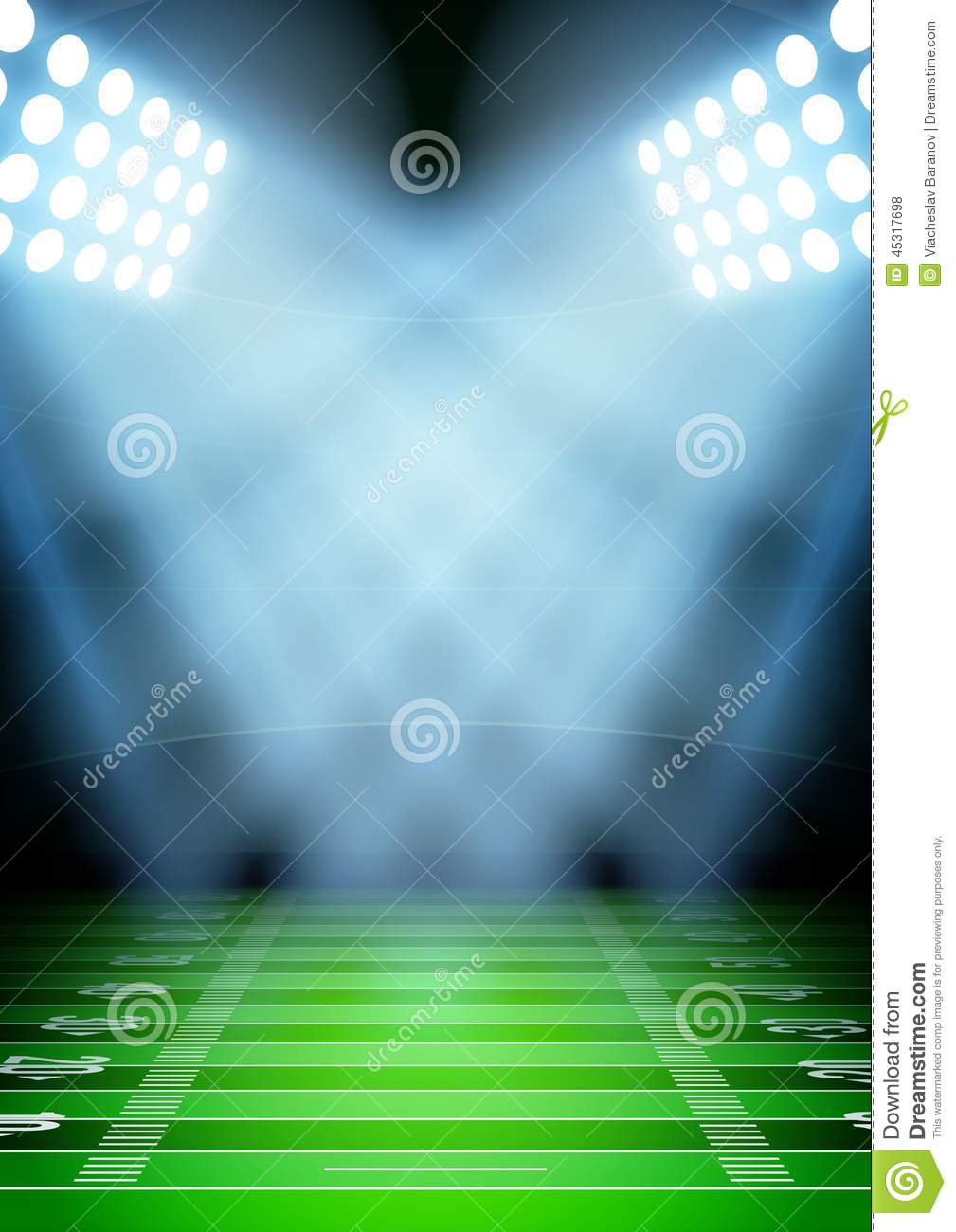 background for posters night football stadium in stock vector