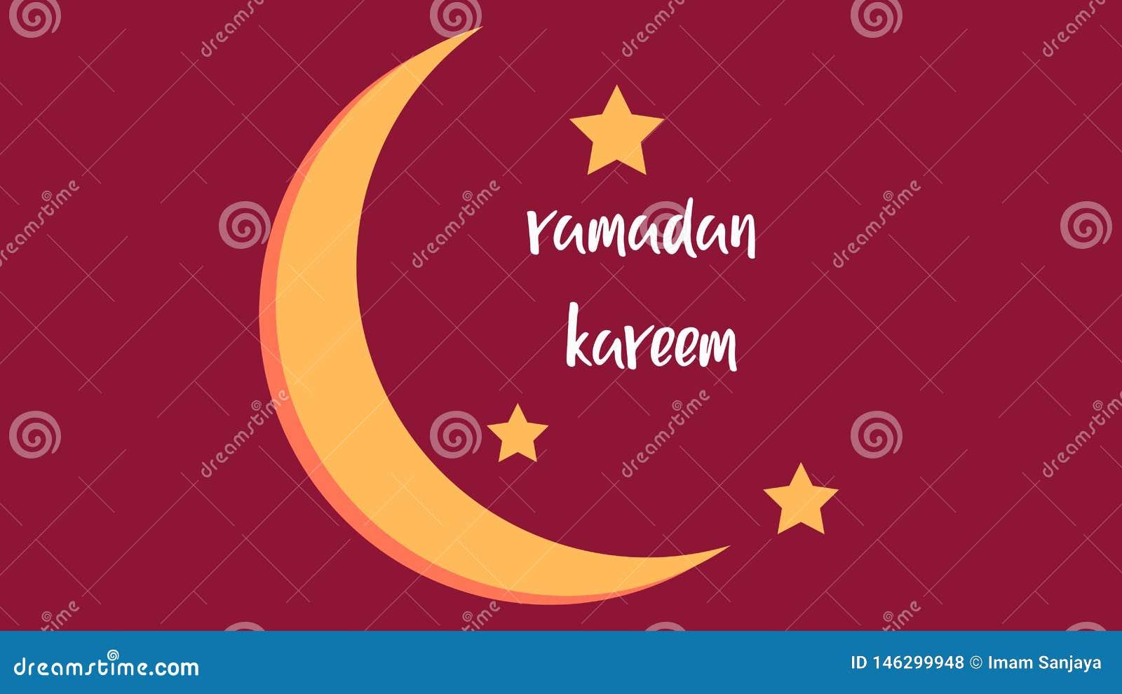 Background of ramadan kareem with month
