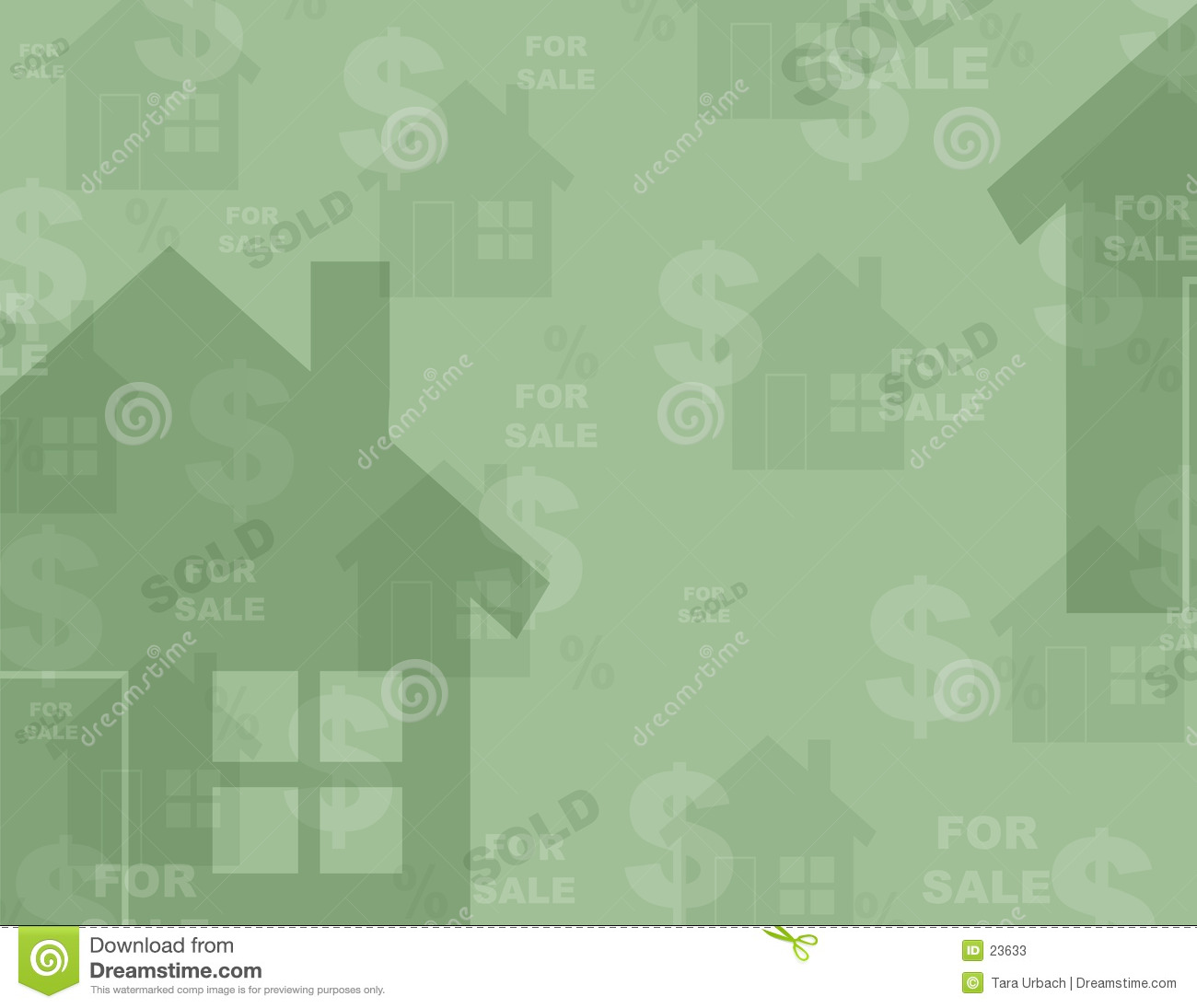 Multil layered real estate themed background houses dollar signs
