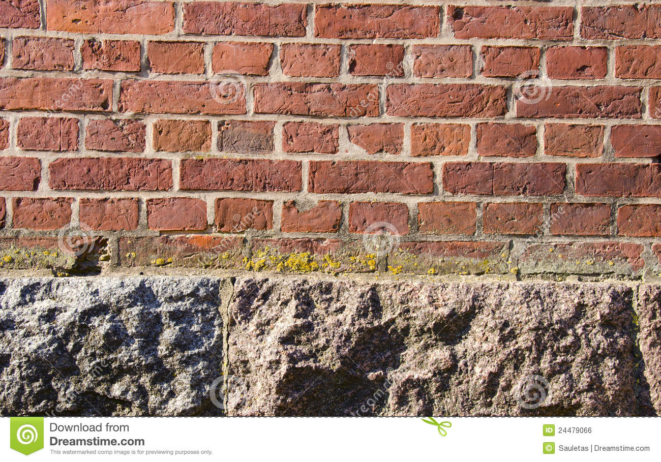 Background Red Brick Wall Stone House Foundations Stock Photo Image Of Brickwork Masonry 24479066