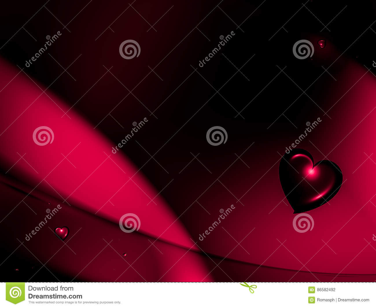 Background with red hearts stock illustration. Illustration of ...