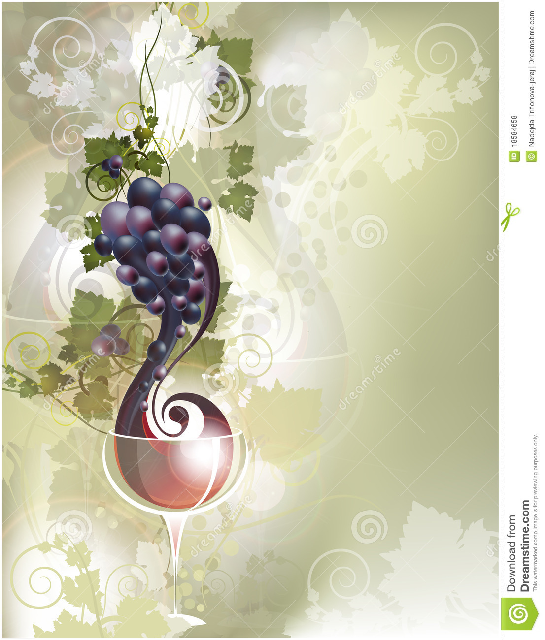 Background with red wine