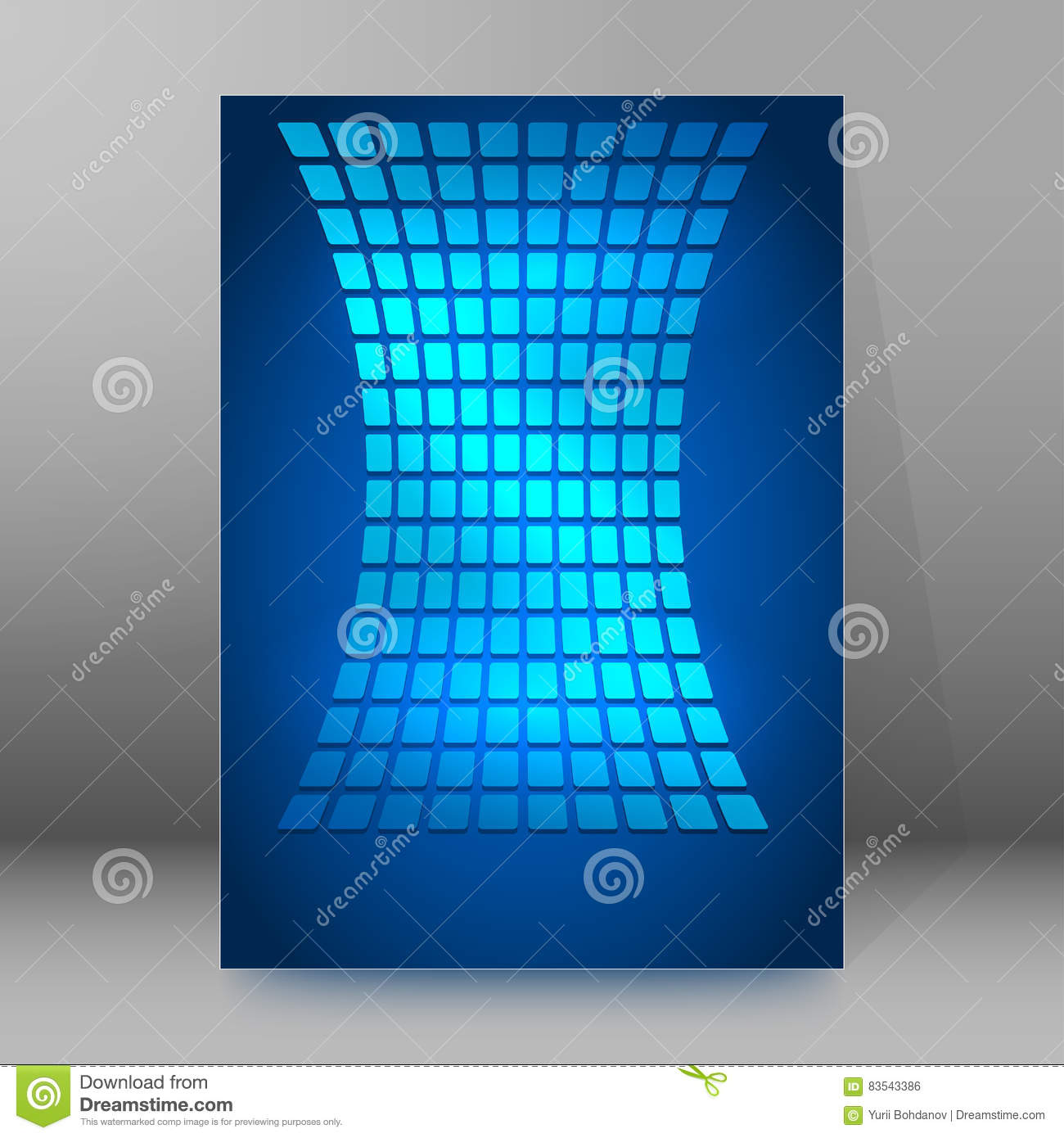 Download Background Report Brochure Cover Pages A4 Style Abstract Glow24 Stock Vector