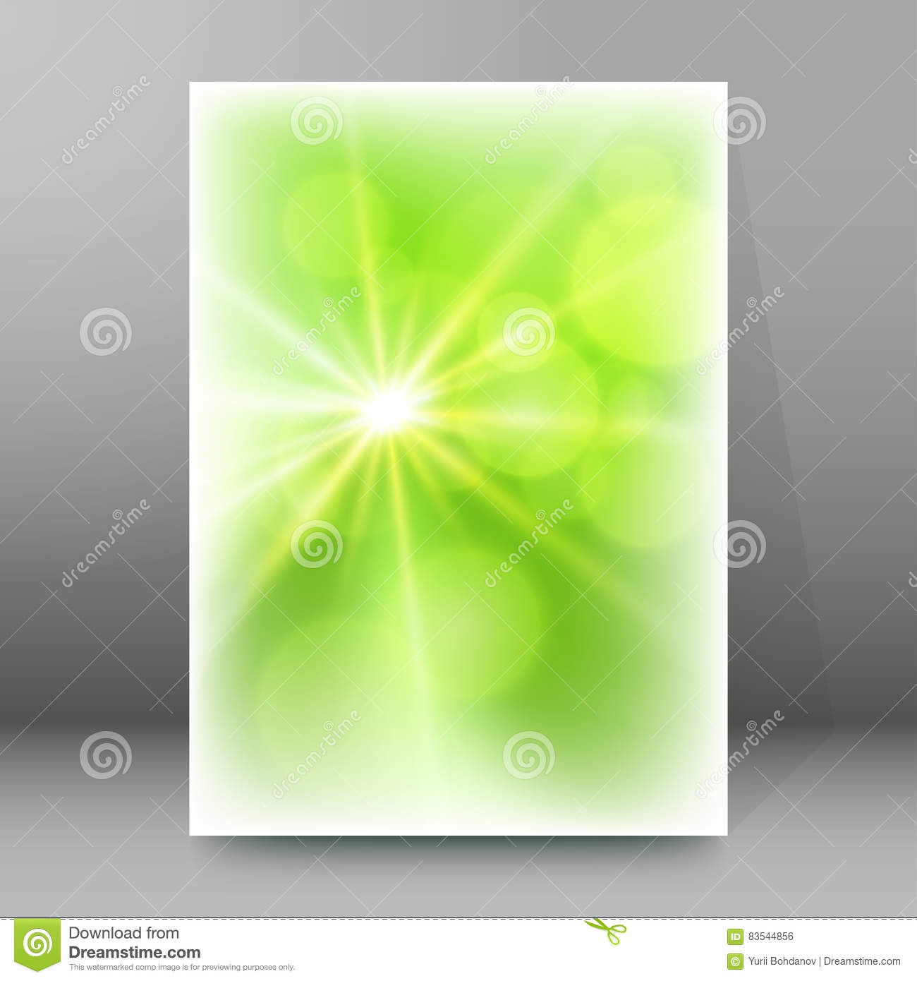 Download Background Report Brochure Cover Pages A4 Style Abstract Glow81 Stock Vector