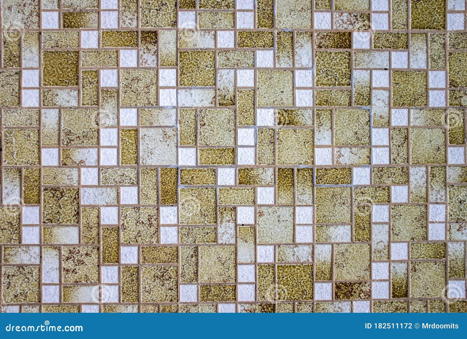 Retro Ugly 1970s Mosaic Tiles Stock Photo Image Of Background Grim 182511172