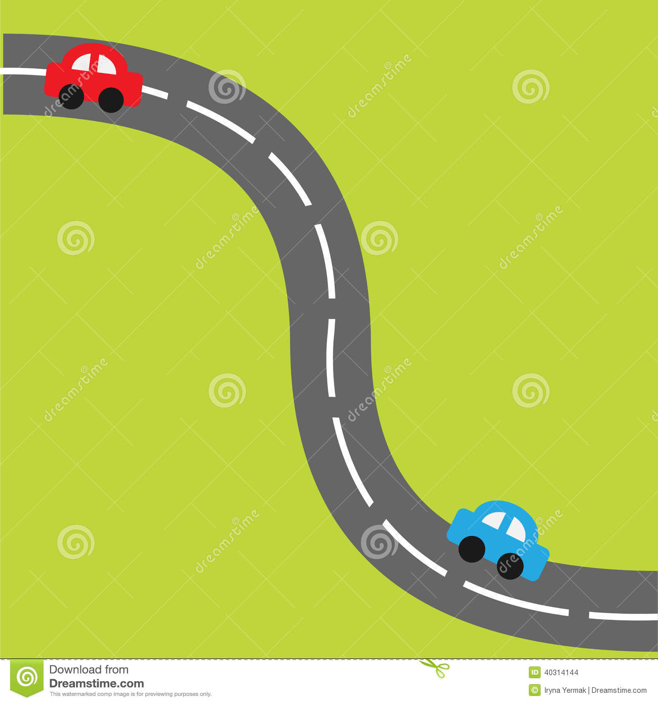 Street Dreams Auto >> Background With Road And Cartoon Cars. Stock Vector - Image: 40314144