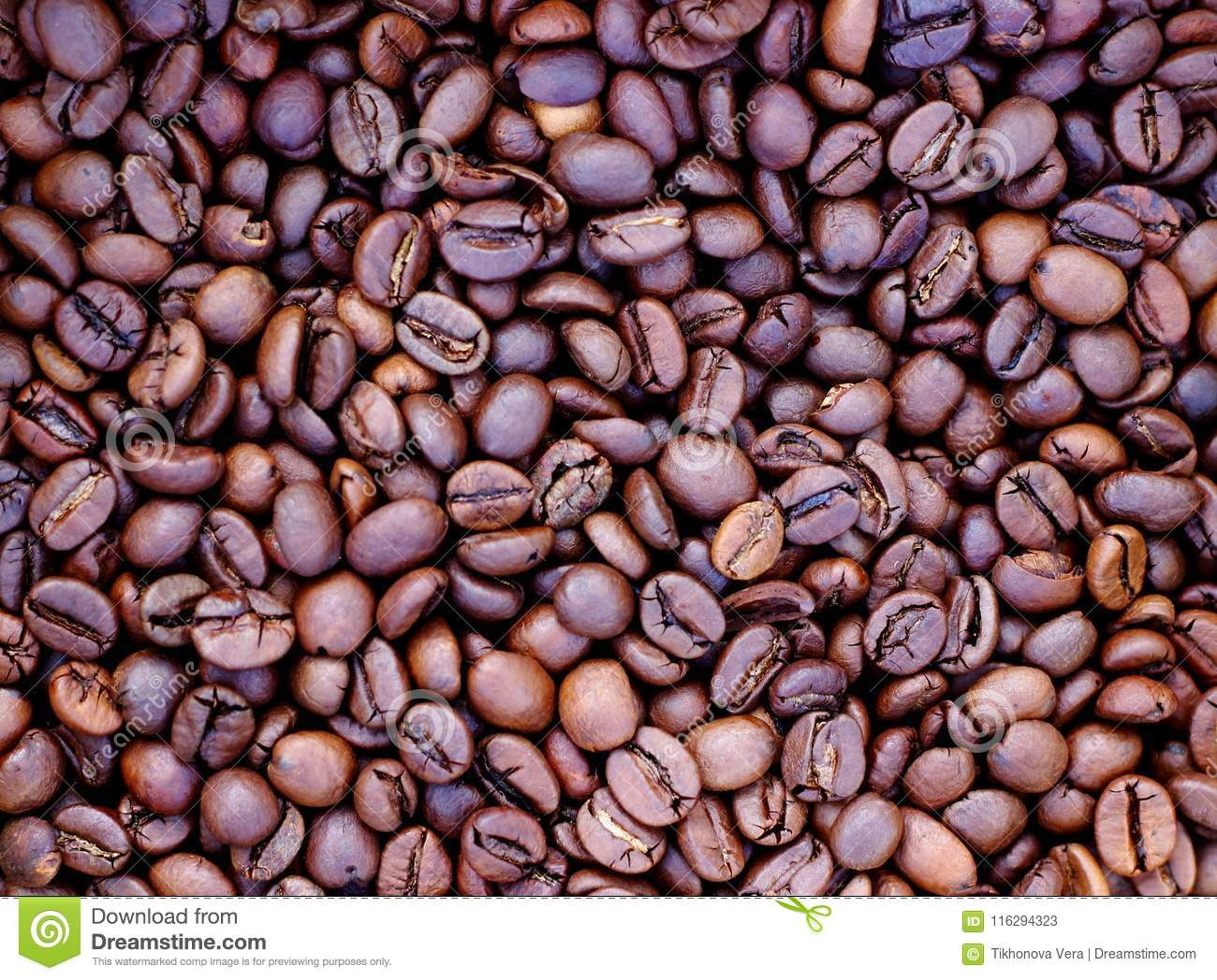 Background of roasted brown coffee
