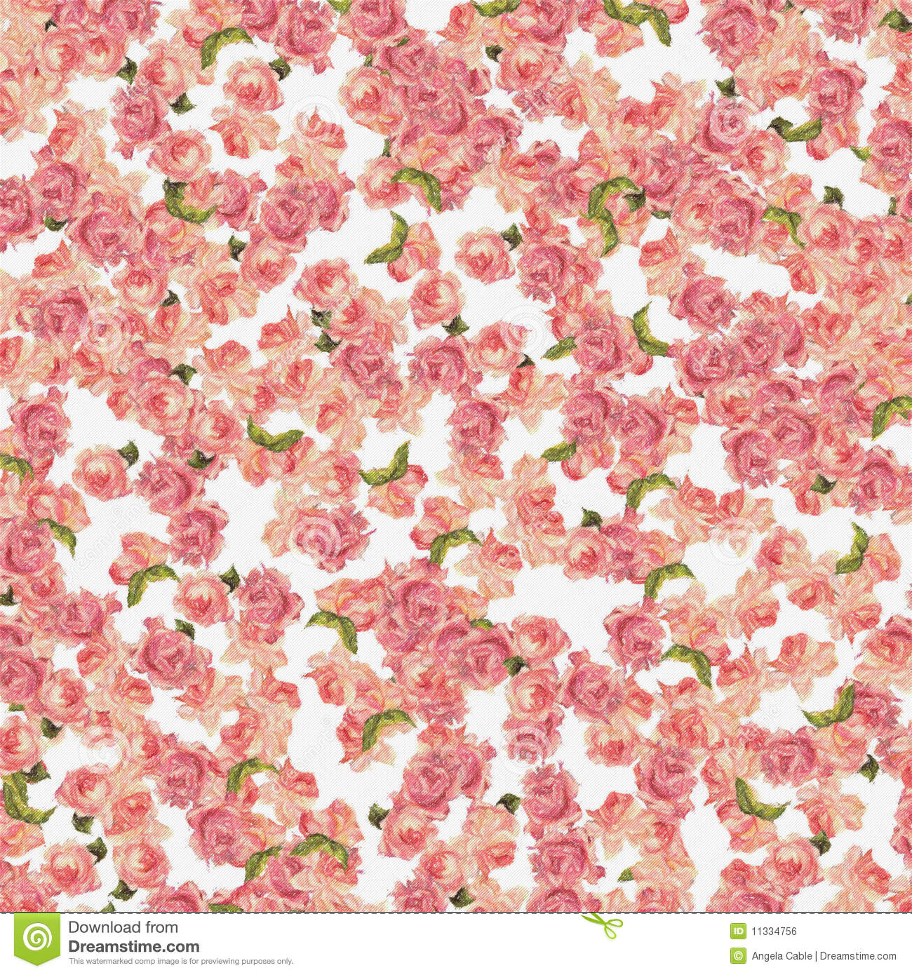 Background Roses Allover