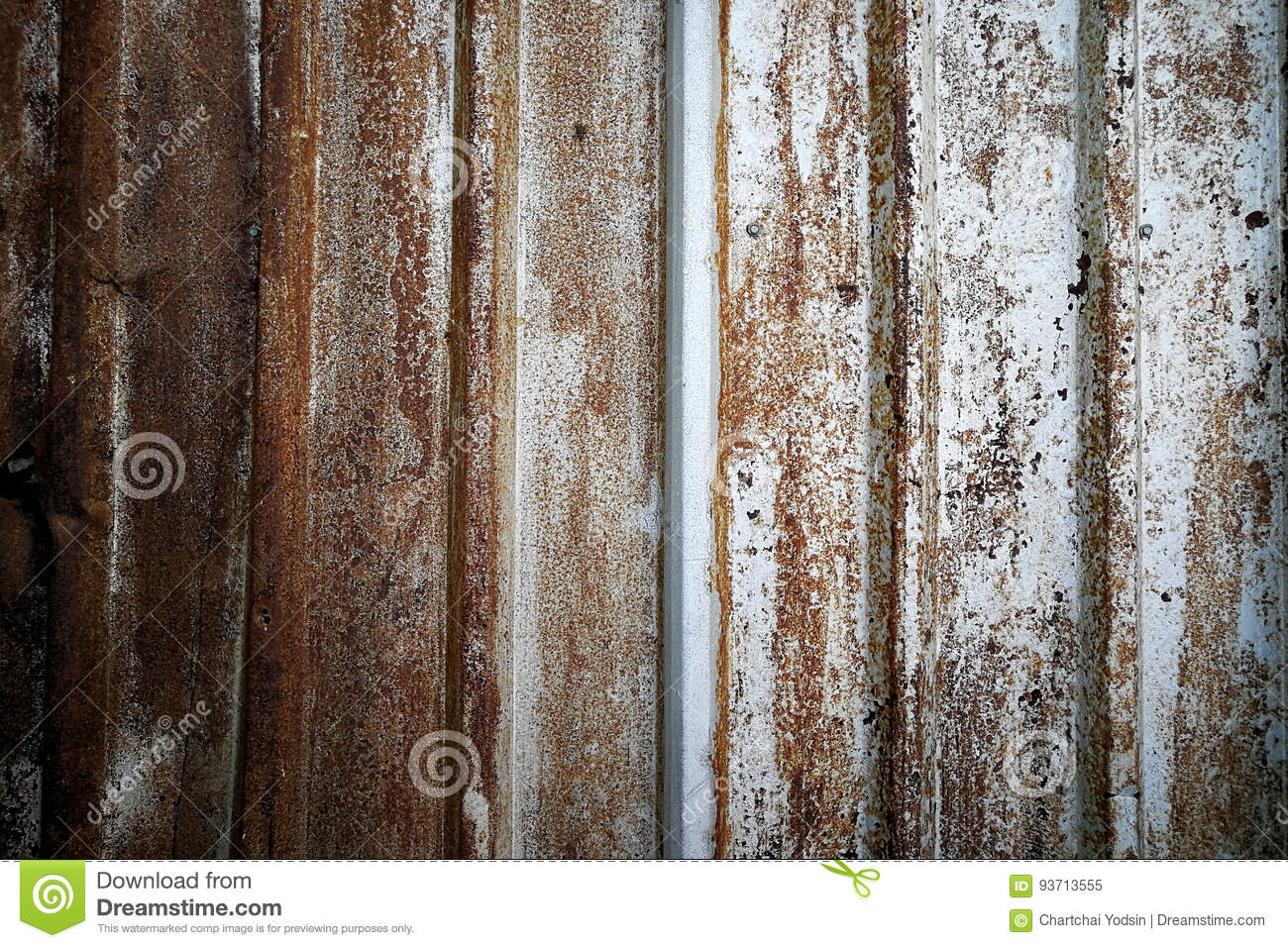 Background of Rusted metal wall, Vintage texture