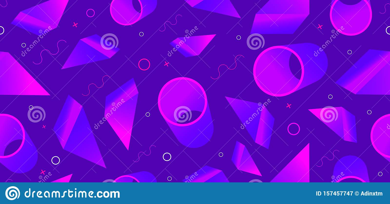 Background Seamless Pattern With Abstract Shapes Vector