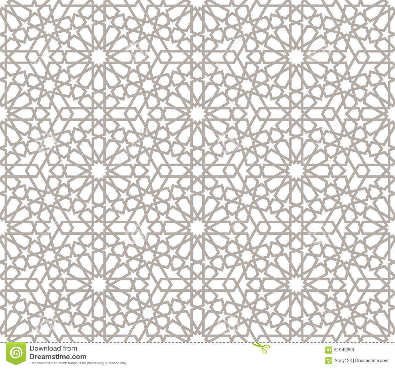 Background With Seamless Pattern In Arabic Style Stock