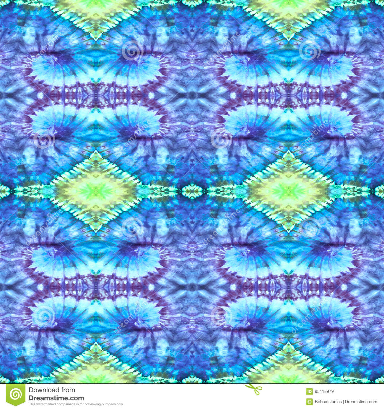 Background Seamless Tie Dye Pattern